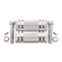 Cycle Pirates Long 80mm Silver Footpegs for 360 Adjustable Mounts