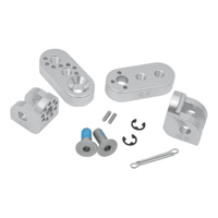 Cycle Pirates Silver 360 Footpeg Mount Kit