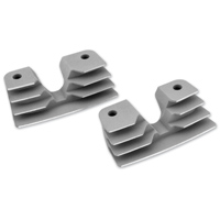 Biker's Choice Silver Finned Head Bolt Covers