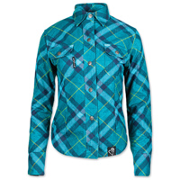Speed and Strength Women's Cross My Heart Reinforced Teal Moto Shirt