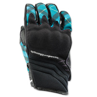 Speed and Strength Women's Cross My Heart Teal Leather Gloves