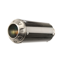 Hot Bodies MGP II Carbon Fiber Slip-On Exhaust w/Stainless End Cap