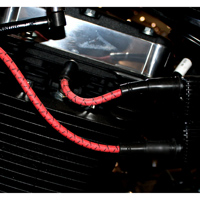 Sumax Classic Thunder Braided Cloth Spark Plug Wires Red w/ Black Tracer