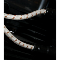 Sumax Classic Thunder Braided Cloth Spark Plug Wires Grey w/Brown Tracer