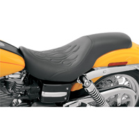 Saddlemen Tattoo Profiler Seat with Black Flame Stitching