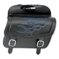 Saddlemen Blue Jumbo Highwayman Tattoo Saddlebag