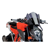 Puig Dark Smoke Naked New Generation Windscreen