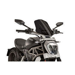 Puig Dark Smoke Naked New Generation Touring Windscreen