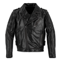 Black Brand Men's Carnivore Black Leather Jacket