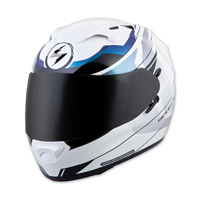 Scorpion EXO EXO-T1200 Mainstay White/Blue Full Face Helmet