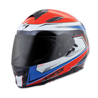 Scorpion EXO EXO-T510 Tarmac Red/Blue Full Face Helmet