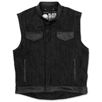 Black Brand Men's Black Denim Vest
