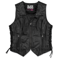 Black Brand Women's Janelle Black Leather Vest