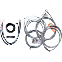 LA Choppers Stainless Complete Cable/Line/Wiring Handlebar Kit for OEM Bars on Models with ABS