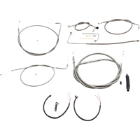 LA Choppers Stainless Complete Cable/Line/Wiring Handlebar Kit for 15″-17″ Bars on Models with ABS