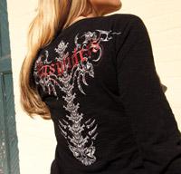 Easyriders Ladies Long-Sleeve Wicked Spine Tee