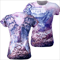 Angel Wings V-Twin Ladies' T-shirt