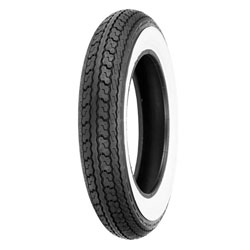 Shinko SR550 3.50-10 Wide Whitewall Front/Rear Tire