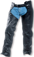 Interstate Leather Jadon Unisex Black Leather Chaps