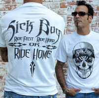 Sick Boy Men's Bandana Skull White T-Shirt