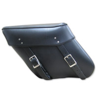 Leatherworks, Inc. Economy Wide Angle Throw-Over Leather Saddlebag
