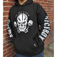 Sick Boy Men's Live Fast-Ride Faster Black Hoodie