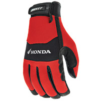 Joe Rocket Men's Honda Crew Touch Textile Red and Black Gloves