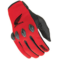 Joe Rocket Men's Honda Nation Textile Red and Black Gloves