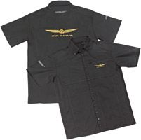 Joe Rocket Men's Goldwing Black Shop Shirt