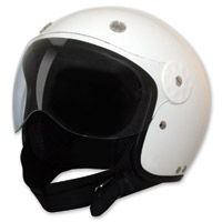 HCI-15 White Open Face Helmet