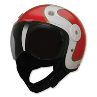 HCI-15 Stripe Red and Gold Open Face Helmet