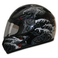 HCI-75 Storm Black Full Face Helmet