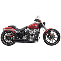 Bassani Pro-Street Black Exhaust System with Turn-out Ends