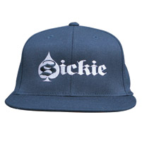 Sick Boy Embroidered Flat Brim Fitted Hat