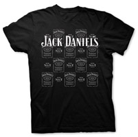 Jack Daniel's Black Allover Jack Short-Sleeve T-shirt