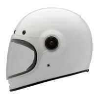 Bell Solid White Bullitt Full Face Helmet