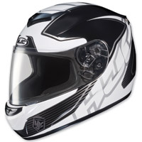 HJC CS-R2 Injector Silver Stripe Full Face Helmet