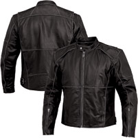 River Road Men's Rambler Black Leather Jacket