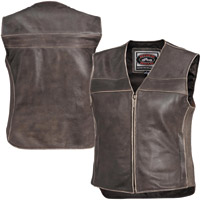 River Road Women's Drifter Brown Leather Vest