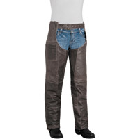 River Road Women's Drifter Brown Leather Chaps