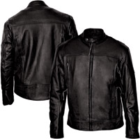 Interstate Leather Men's Beretta Black Leather Jacket