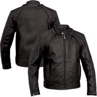 River Road Men's Mortar Black Versatile Leather Jacket