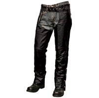 Interstate Leather Unisex Leather Lined Chaps with Jean Pockets