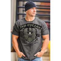 J&P Cycles® Men's Custom Euro Charcoal T-Shirt