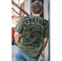 J&P Cycles® Men's Custom Eagle Military Green T-Shirt