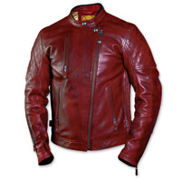 Roland Sands Design Men's Clash Oxblood Leather