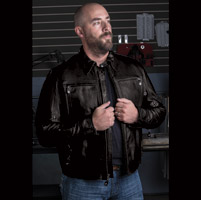 Roland Sands Design City Men's Black Leather Jacket