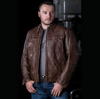 Roland Sands Design City Men's Tobacco Leather Jacket