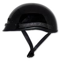 Zox Nano Custom Norse Glossy Black Half Helmet