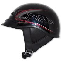 Zox Alto Custom Boulevard Red Half Helmet